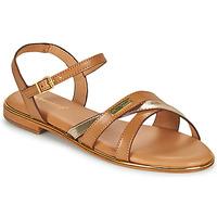 Shoes Women Sandals Les Tropéziennes par M Belarbi HEXANE Brown / Gold