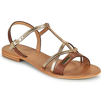 Shoes Women Sandals Les Tropéziennes par M Belarbi HIRONELA Tan / Silver