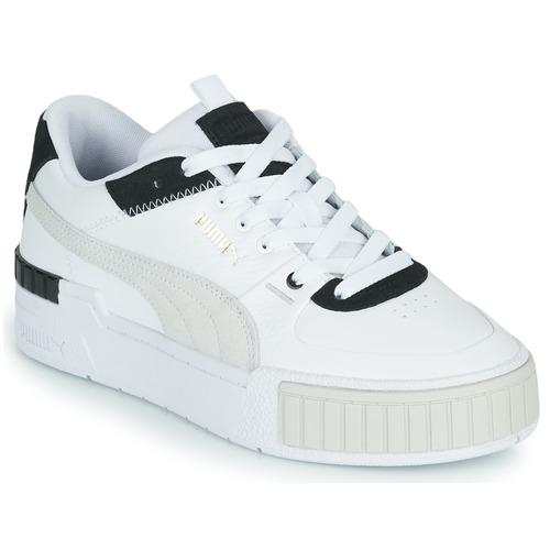 Shoes Women Low top trainers Puma CALI SPORT White / Black