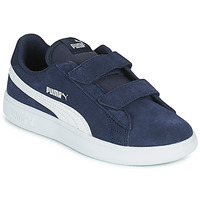 Shoes Children Low top trainers Puma SMASH PS Blue