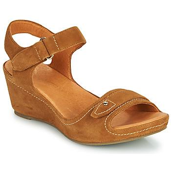 Shoes Women Sandals Mam'Zelle DARDA Cognac