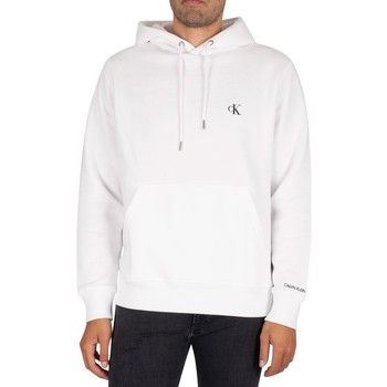 Clothing Men Sweaters Calvin Klein Jeans Essential Pullover Hoodie white
