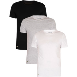 Clothing Men Sleepsuits Lacoste Essentials Lounge 3 Pack Slim Crew T-Shirts multicoloured