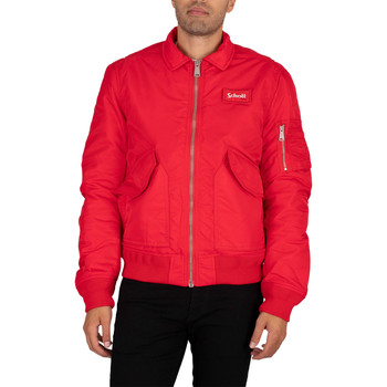 Clothing Men Jackets Schott Bomber Jacket red
