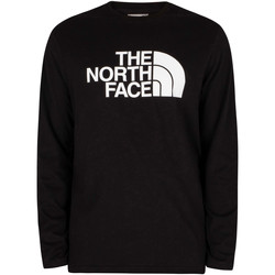 Clothing Men Long sleeved tee-shirts The North Face Half Dome Longsleeved T-Shirt black