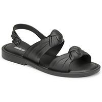 Shoes Women Sandals Melissa VELVET SANDAL AD Black