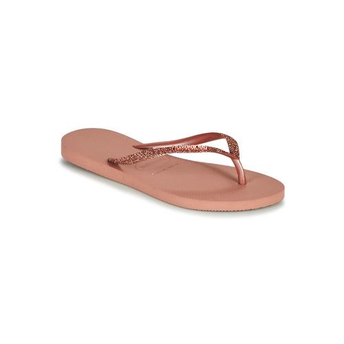 Shoes Women Flip flops Havaianas SLIM GLITTER II Pink