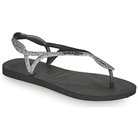 Shoes Women Flip flops Havaianas LUNA PREMIUM II Black / Grey
