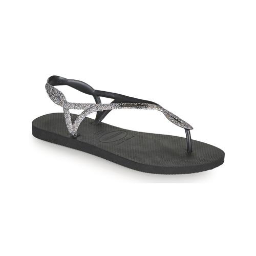Shoes Women Flip flops Havaianas LUNA PREMIUM II Black / Grey