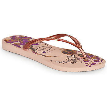 Shoes Women Flip flops Havaianas SLIM ORGANIC Pink