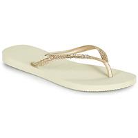 Shoes Women Flip flops Havaianas SLIM GLITTER II Beige