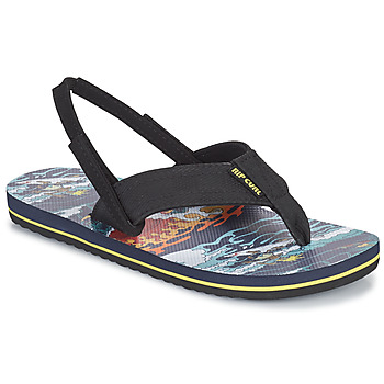 Shoes Boy Flip flops Rip Curl RIPPER KIDS Black / Orange