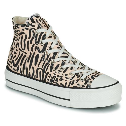 Shoes Women Hi top trainers Converse CHUCK TAYLOR LIFT  black / Beige