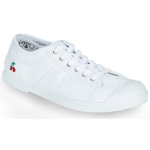 Shoes Women Low top trainers Le Temps des Cerises BASIC LACE White