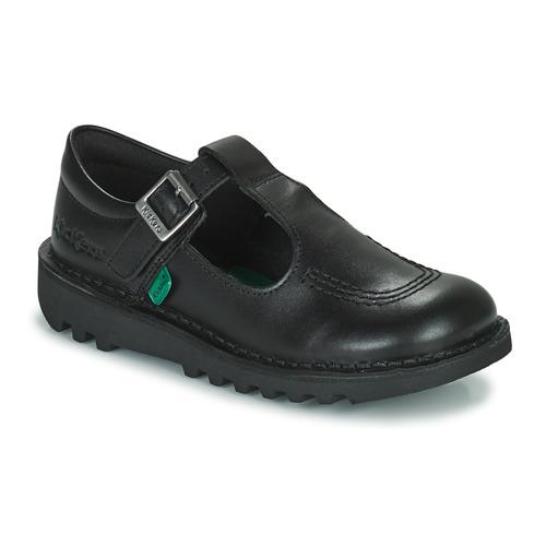 Shoes Girl Flat shoes Kickers KICK T  black