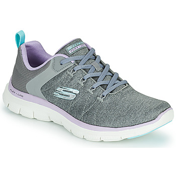 Shoes Women Low top trainers Skechers FLEX APPEAL 4.0 Grey / Pink
