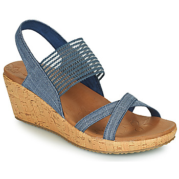 Shoes Women Sandals Skechers BEVERLEE HIGH TEA Blue