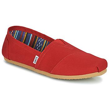 Shoes Men Espadrilles Toms CORE Red
