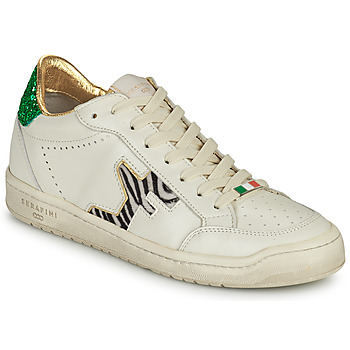 Shoes Women Low top trainers Serafini SAN DIEGO White / Green