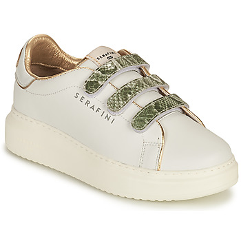 Shoes Women Low top trainers Serafini CONNORS White / Gold / Green