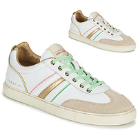 Shoes Women Low top trainers Serafini COURT White / Gold