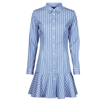 Clothing Women Short Dresses Lauren Ralph Lauren TRIELLA Blue / White