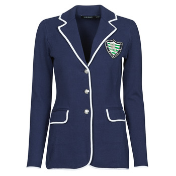 Clothing Women Jackets / Blazers Lauren Ralph Lauren AYELEE Blue / White