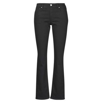 Clothing Women Straight jeans Lauren Ralph Lauren MIDRISE STRT-5-POCKET-DENIM Black