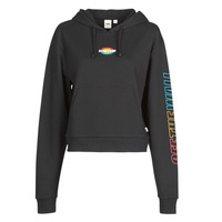Clothing Women Sweaters Vans WM OVAL TEEN HOODIE  black