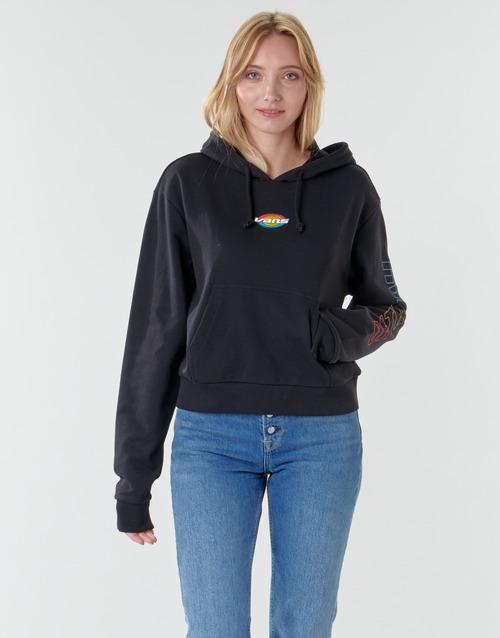 Clothing Women Sweaters Vans WM OVAL TEEN HOODIE  black