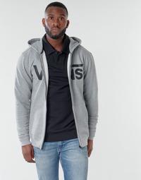 Clothing Men Sweaters Vans VANS CLASSIC ZIP HOODIE II Grey / Black