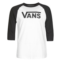 Clothing Men Long sleeved tee-shirts Vans VANS CLASSIC RAGLAN White /  black