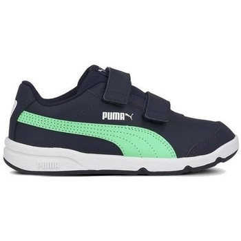 Shoes Children Low top trainers Puma Stepfleex 2 SL VE V PS Green,Navy blue