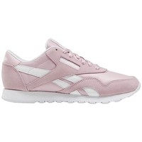 Shoes Women Low top trainers Reebok Sport CL Nylon White, Pink