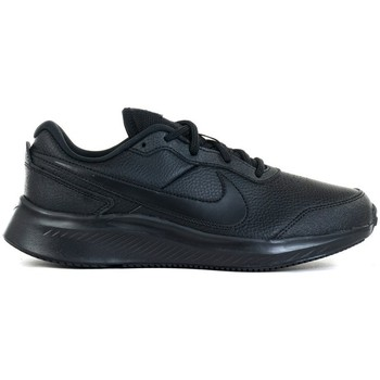 Shoes Children Low top trainers Nike Varsity Leather GS Black