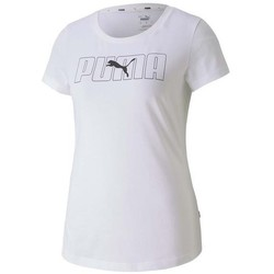 Clothing Women Short-sleeved t-shirts Puma Rebel Graphic Tee White