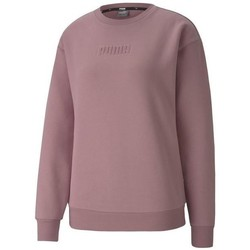 Clothing Women Sweaters Puma Modern Basics Crew FL Pink