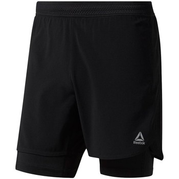 Clothing Men Shorts / Bermudas Reebok Sport 2W1 One Series Running Epic Black