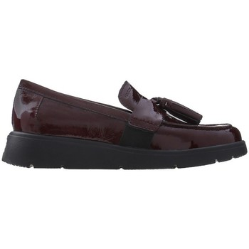 Shoes Women Loafers Geox Elidia Burgundy