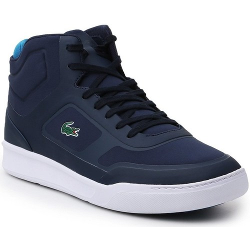 Shoes Men Hi top trainers Lacoste Explorateur Mid Navy blue