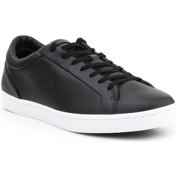 Shoes Men Low top trainers Lacoste Straightset Black