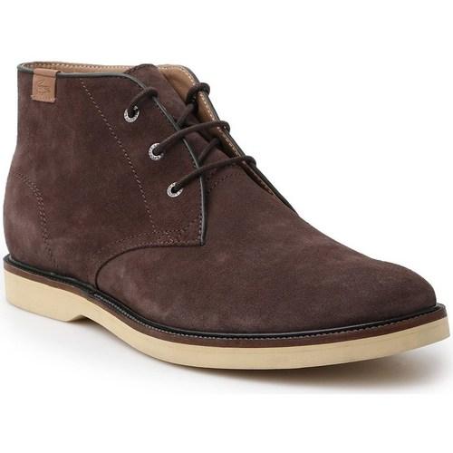 Shoes Men Mid boots Lacoste Sherbrooke HI Brown