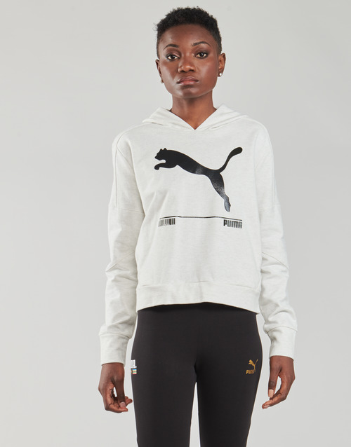 Clothing Women Sweaters Puma NUTILITY HOODY White