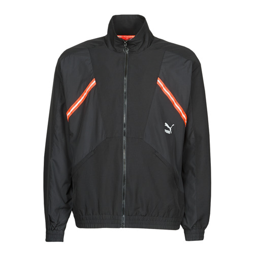 Clothing Men Track tops Puma WVN JACKET Black / Red