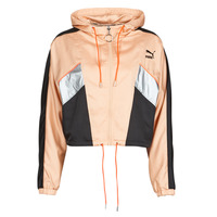Clothing Women Track tops Puma FASHION LUX JACKET Pink / Black