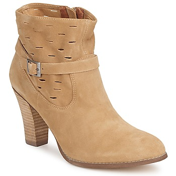 Shoes Women Ankle boots One Step VIRNA Velours fauve