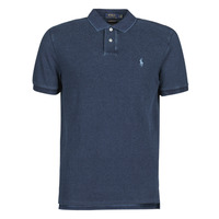 Clothing Men Short-sleeved polo shirts Polo Ralph Lauren POLO AJUSTE DROIT EN COTON BASIC Blue