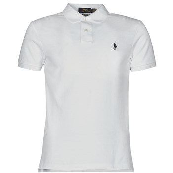 Clothing Men Short-sleeved polo shirts Polo Ralph Lauren POLO CINTRE SLIM FIT EN COTON BASIC MESH LOGO PONY PLAYER White