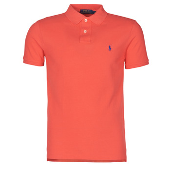 Clothing Men Short-sleeved polo shirts Polo Ralph Lauren POLO CINTRE SLIM FIT EN COTON BASIC MESH LOGO PONY PLAYER Red