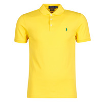 Clothing Men Short-sleeved polo shirts Polo Ralph Lauren POLO CINTRE SLIM FIT EN COTON STRETCH MESH LOGO PONY PLAYER Yellow